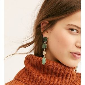 Free people magnolia stone earring